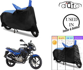 Bike Body Cover for  Bajaj Pulsar 150  ( Black & Blue )