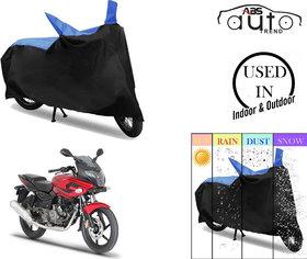 Bike Body Cover for  Bajaj Pulsar 220F  ( Black & Blue )