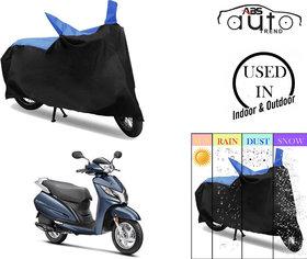 Bike Body Cover for  Honda Activa 125  ( Black & Blue )