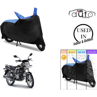 Bike Body Cover for  Bajaj Platina Comfertech  ( Black & Blue )