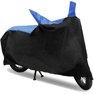 Bike Body Cover for  Hero Passion  ( Black & Blue )