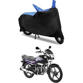 Bike Body Cover for  Hero Super Splendor  ( Black & Blue )