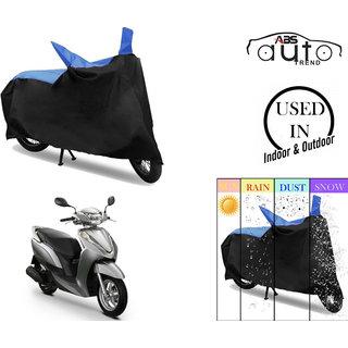 Bike Body Cover for  Honda Activa 4G  ( Black & Blue )