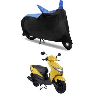 Bike Body Cover for  Honda Dio  ( Black & Blue )