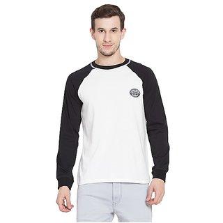 SBO Fashion Multicolor Raglan Sleeve Trendy Men's T-Shirt 5244Black