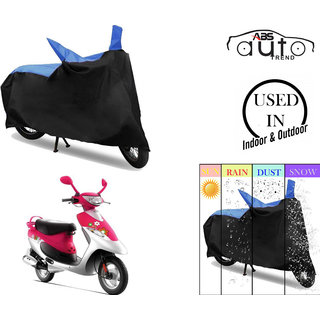 Bike Body Cover for  TVS Scooty PEP Plus  ( Black & Blue )