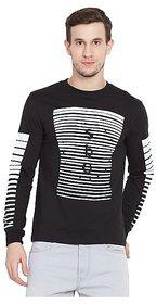 SBO Fashion Printed Full Sleeve Trendy Men's T-Shirt 5242Black