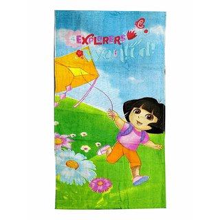 Fancy and Durable Dora Print Multi Color Cotton Bath Towel (48cm X86cm)