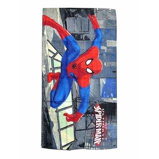 Fancy and Durable Spiderman Print Cotton Fabric Bath Towel(48cm X86cm) (Multi Color)