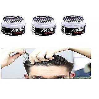 3 PCS COMBO OFFER Hair Waax MG5 JAPAN SUPER STRONG HAIR STYLING WAX SUPER HOLD HAIR GEL
