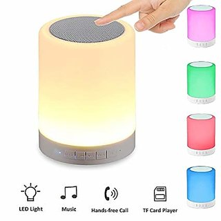 Unique Bluetooth Speakers Smart Music Lamp Touch LED Lamp Multifunctional Hands-Free Bluetooth(Multicolor)