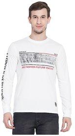 SBO Fashion White Color Printed Trendy Men's T-Shirt 5241White