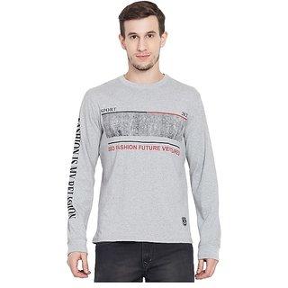 SBO Fashion Printed Grey Color Trendy Men's T-Shirt 5241Grey