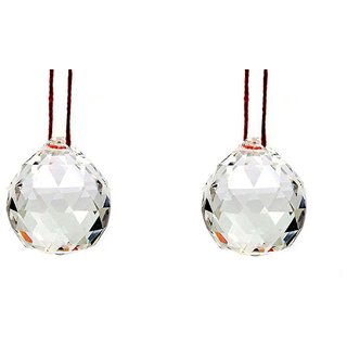 Gifts  Decor Hanging Crystall Ball Rainbow Prism Sun Catcher With Red Thread For Positive Energy Fengsui Car Home