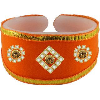 Vidhya Kangan Women's Multicolor Rhodium Plated Brass & Copper Bracelets