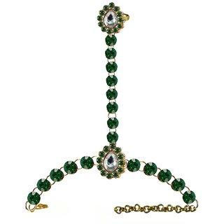 Vidhya Kangan Womens Multicolor Rhodium Plated Brass Copper Cuff Bracelets