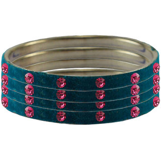 Vidhya Kangan Women's Multicolor Rhodium Plated Brass & Copper Bajuband/ Armlet