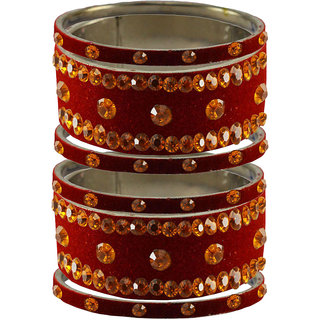 Vidhya Kangan Women's Multicolor Rhodium Plated Brass & Copper Bajuband/ Armlet