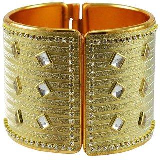 Vidhya Kangan Women's Multicolor Rhodium Plated Brass & Copper Bangles