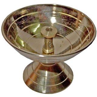 Brass Akhand Deepak/Akhand Deepak,Standard Size (Pure Brass) (1.5Height)