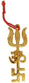 Gifts  Decor Astrologer Face Reader Golden Trishakti Sign