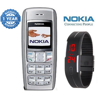 Nokia 1600 / Good Condition/ Certified Pre Owned (1 Year Warranty) with Silicon Watch