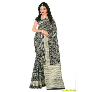 Black & Cream Colour Sarees