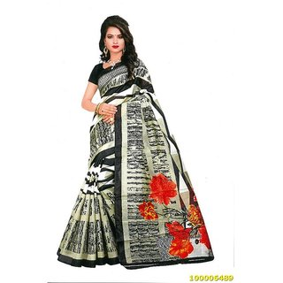 Beige & Black Colour Sarees