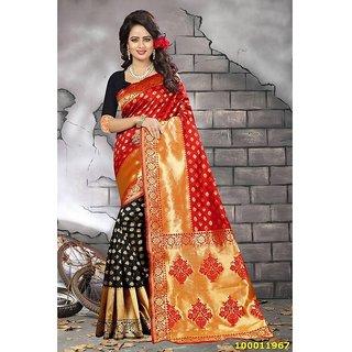 Red & Black Colour Sarees