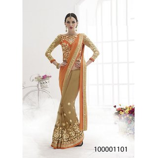 Golden Colour Sarees