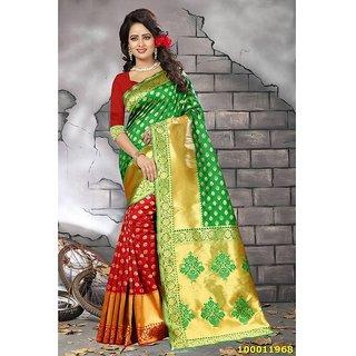 Red & Green Colour Sarees