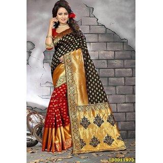 Black & Red Colour Sarees