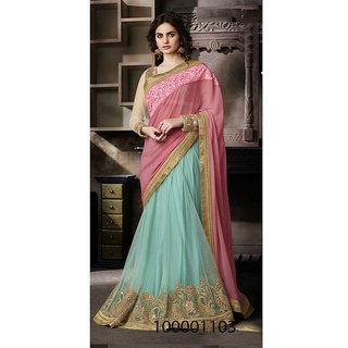 Sky Blue Colour Sarees