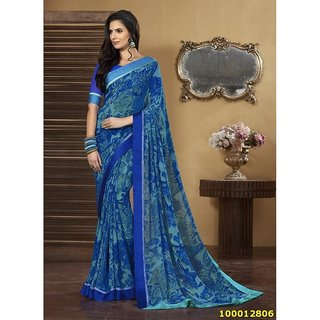 Blue Colour Sarees