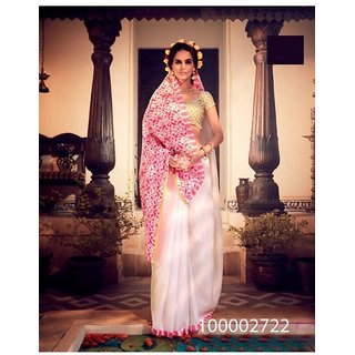 Pink Colour Sarees