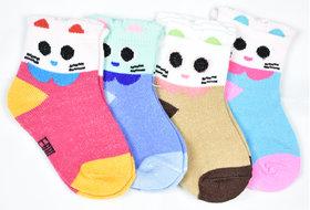 Jisha Fashion Infant Socks (0-1 Year) Pure Cotton Set of 4