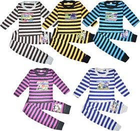 Jisha Fashion Full Sleeves Cotton Top and Bottom Set Pack of 5 (Unisex)