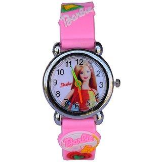 IDIVAS Round Dial Pink Silicone Quartz Kids watch