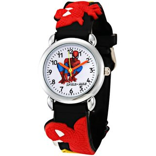 new Round Dial Red Rubber Mechanical Kids watch