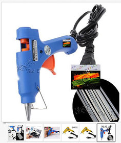 20W Craft Electric Tool Heating Hot Melt Glue Gun with 10pcs 100x7mm Glue Stick