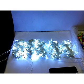 Pack of 5 White Color Festival Decorative 39feet 54 Bulbs High Quality Indoor LED String Fairy Series Lights