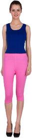 SBO FASHION Neon Pink Cotton Lycra Capri-SBOF-1567-NeonPink