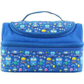 Smily Kiddos Smily Dual Slot Lunch Bag (Blue)