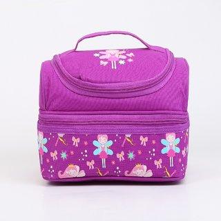 Smily Kiddos Dual Slot Lunch Bag (Purple)