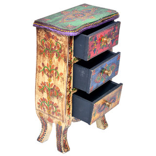 Beautiful Handmade Wooden Colored Drawer Home Decorative