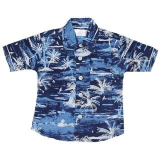 Krivi kids Blue Color Half Sleeve Cotton Shirt For Baby Boys.