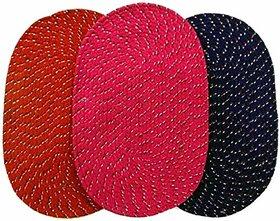 HomeStore-Yep Multicolor High Quality Cotton Reversable Door Mats Set Of 3