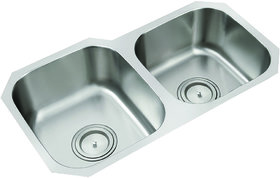 Anupam Stainless Steel Kitchen Sink 402 (785 x 455 x 200 mm / 31 x 18 x 8 inch) double Square Bowl under mount sink 304