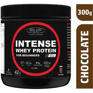 Sinew Nutrition Intense Whey Protein for Beginner's, Protein Supplement - Chocolate Flavour 300 Gm