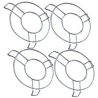 Metal Hot Pot Stand ( Set Of 4 ) Stainless Steel Heat Resistant Hot Pan/Pot Stand